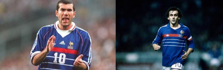 Zidane 98 et Platini 84